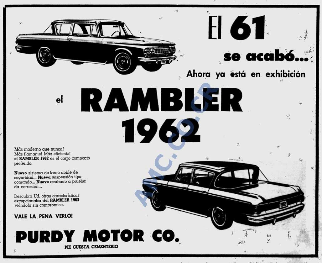 sneakers for cheap ecfbb c50ab 1962 Rambler Ad for Costa Rica